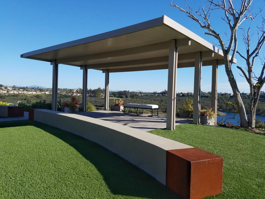 Solid aluminum patio cover in San Diego, CA